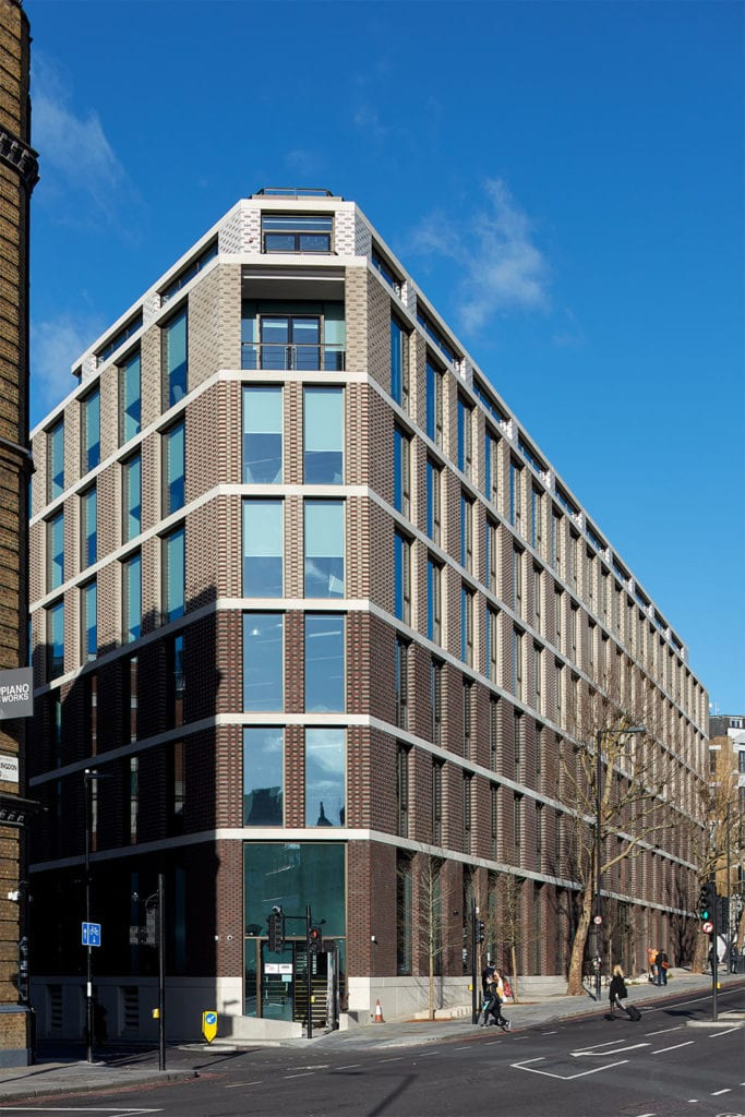 External view of The Ray office building on Farringdon Road London EC1