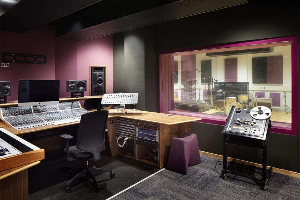 Inside a recording studio at the new Adelphi Building