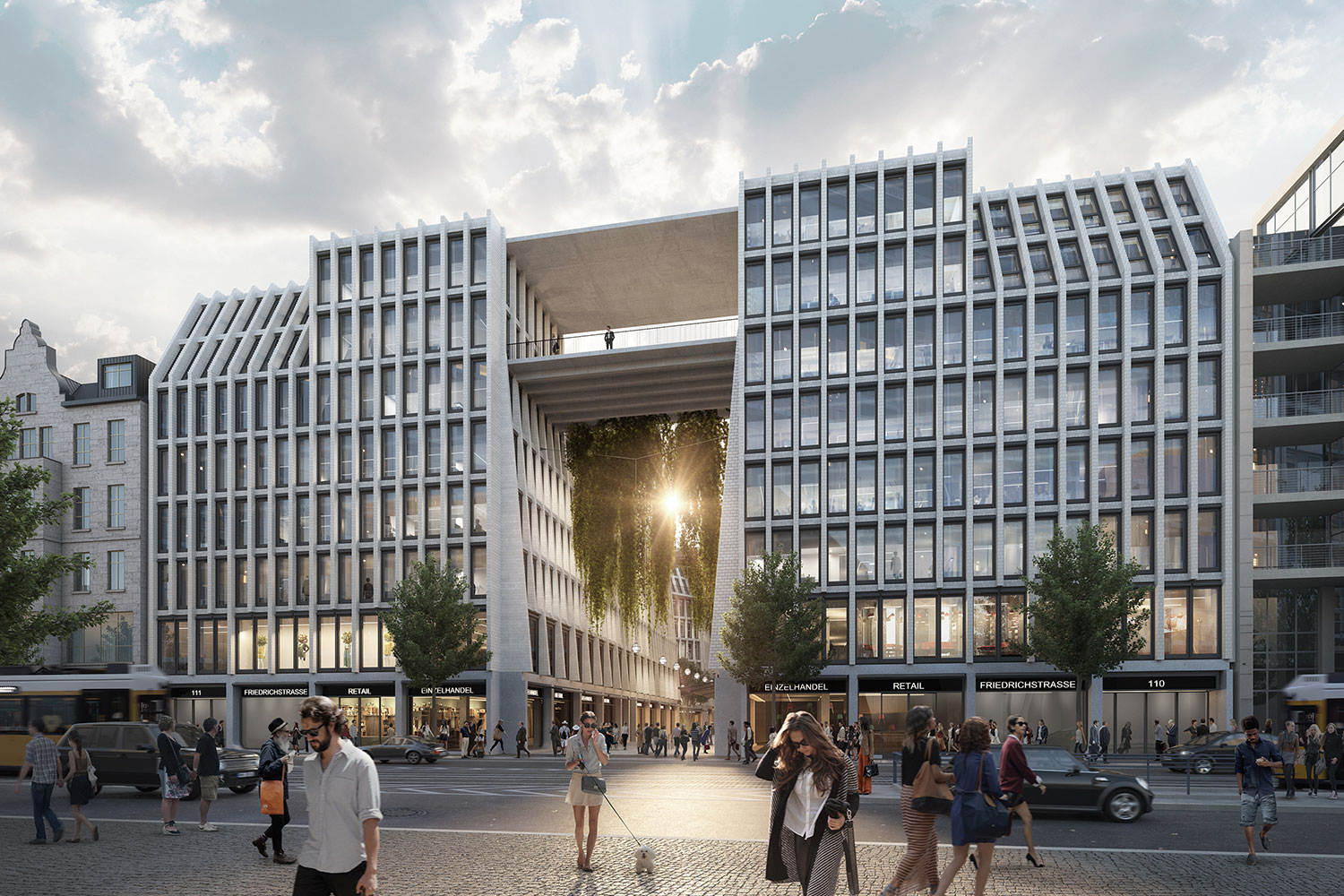 Rendering of gateway building at Am Tacheles