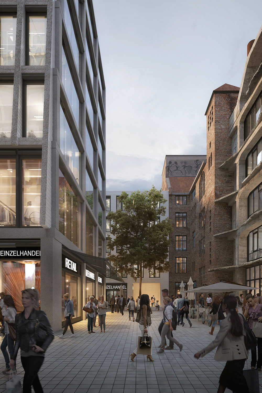street view rendering of the Am Tacheles development