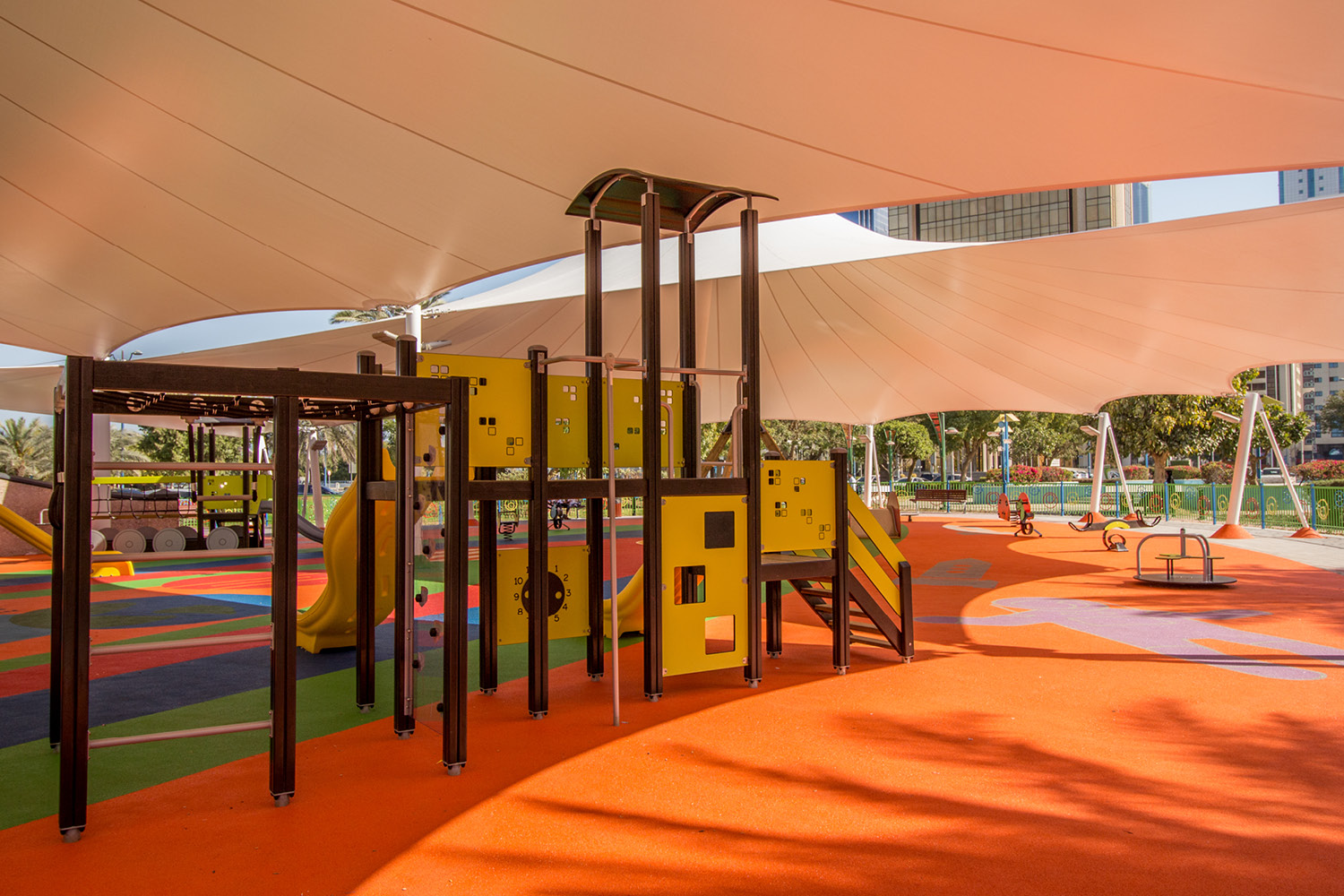 Kids Playground with Shade Structure