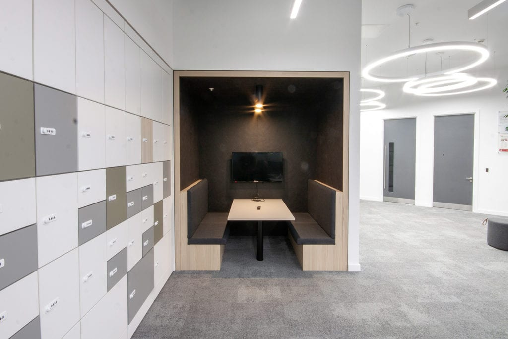 Internal photograph of break out space in Buro Happold's revamped Leeds office