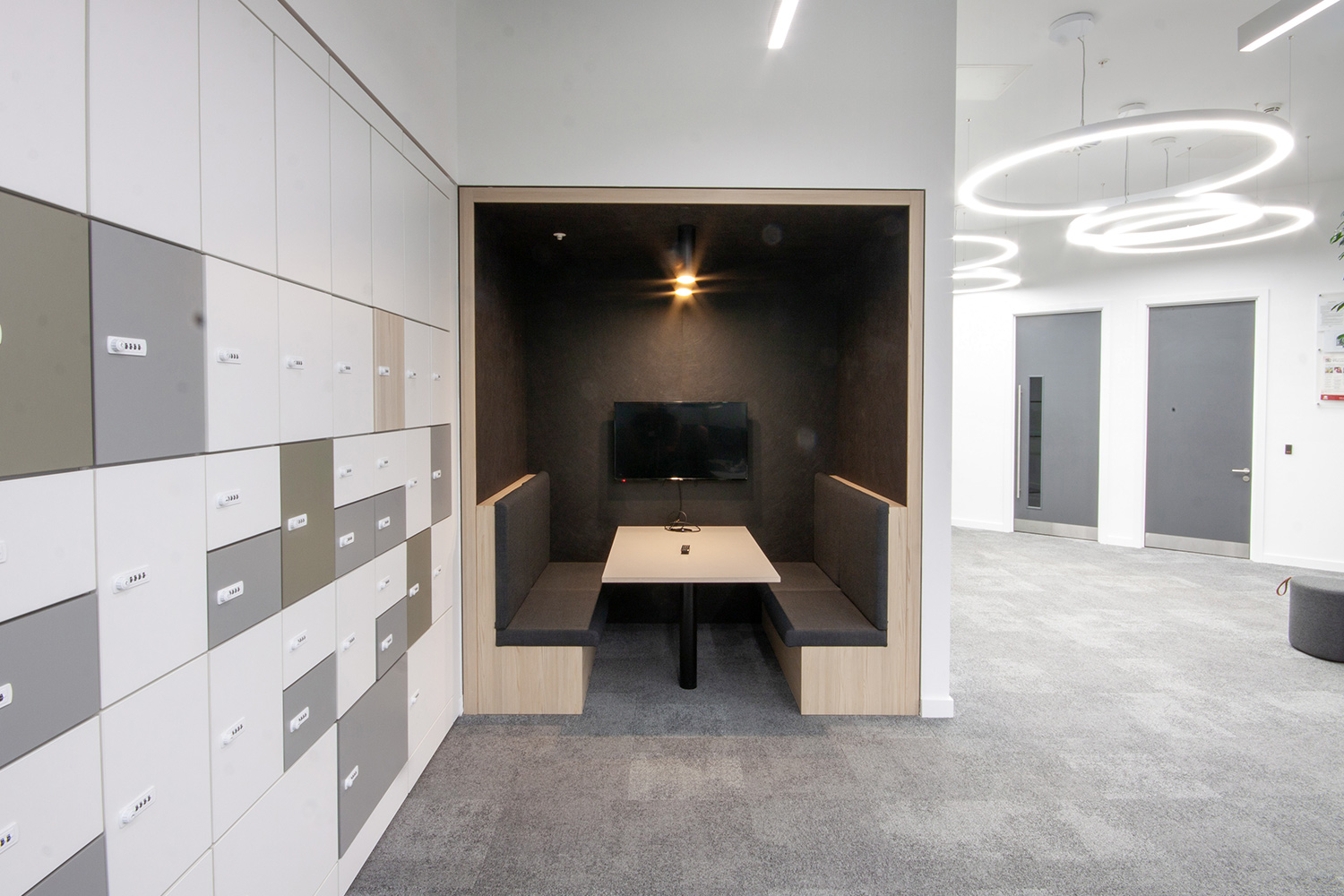 Internal photograph of break out space in BuroHappold's revamped Leeds office