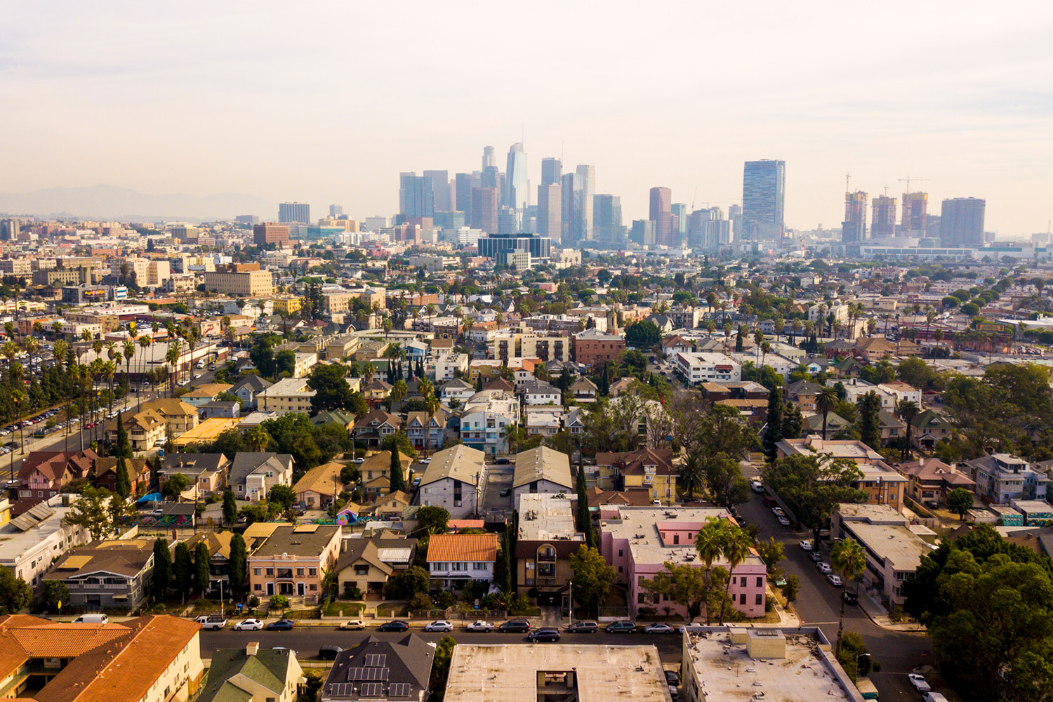 Los Angeles Homes Aerial View