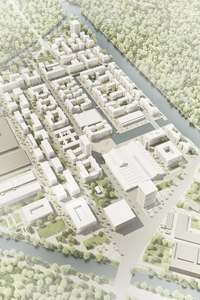 Aerial rendering of The New Gartenfeld
