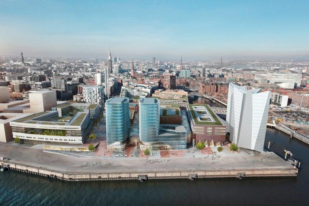 Aerial image of Überseequartier, Hamburg Hafencity