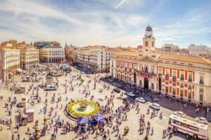 Puerta del Sol, Madrid. Getty.