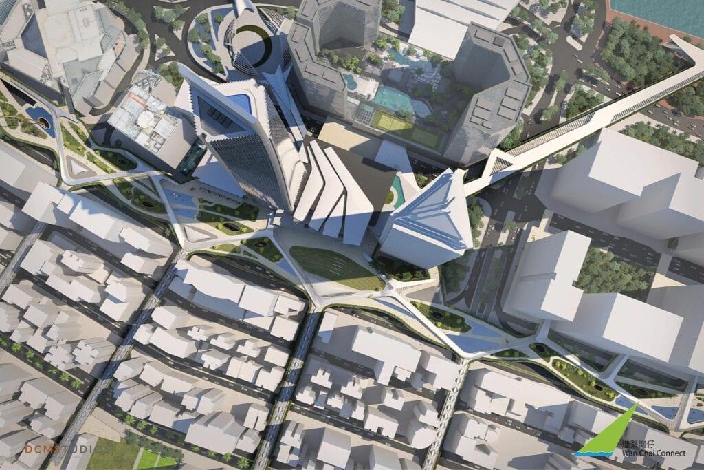 wan chai connect hong kong concept design buro happold urban renewal regeneration development