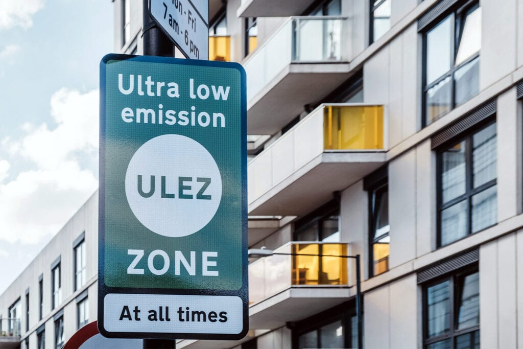 ultra low emissions zone research for planning consultants in London