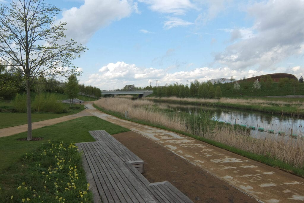 Flood risk management in London using landscaping to protect nearby urban areas from flooding